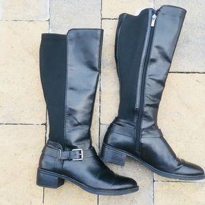 Franco Sarto Black Riding Boots